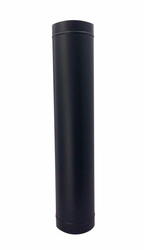 Duto preto para chaminé de 115 mm de diâmetro